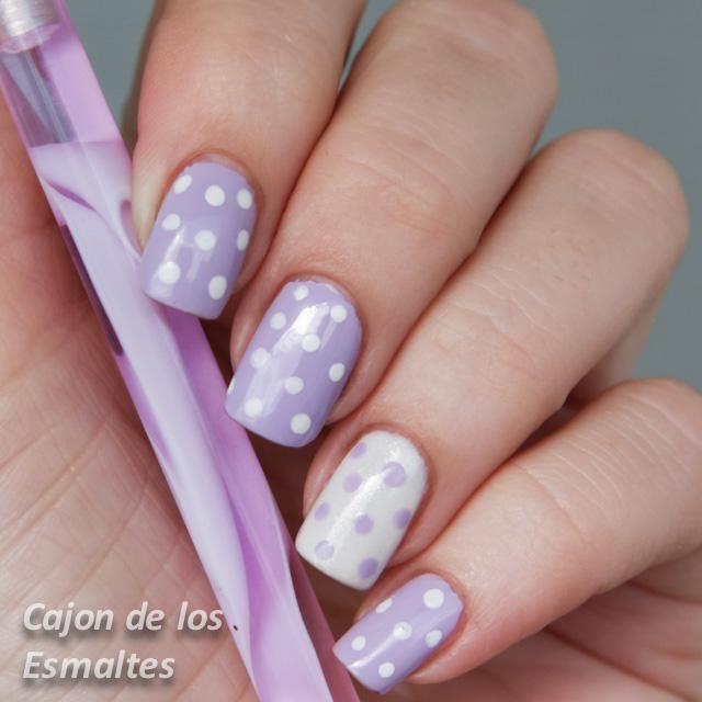 Decoración de uñas con lunares - Reto orquídea radiante 2da semana ...