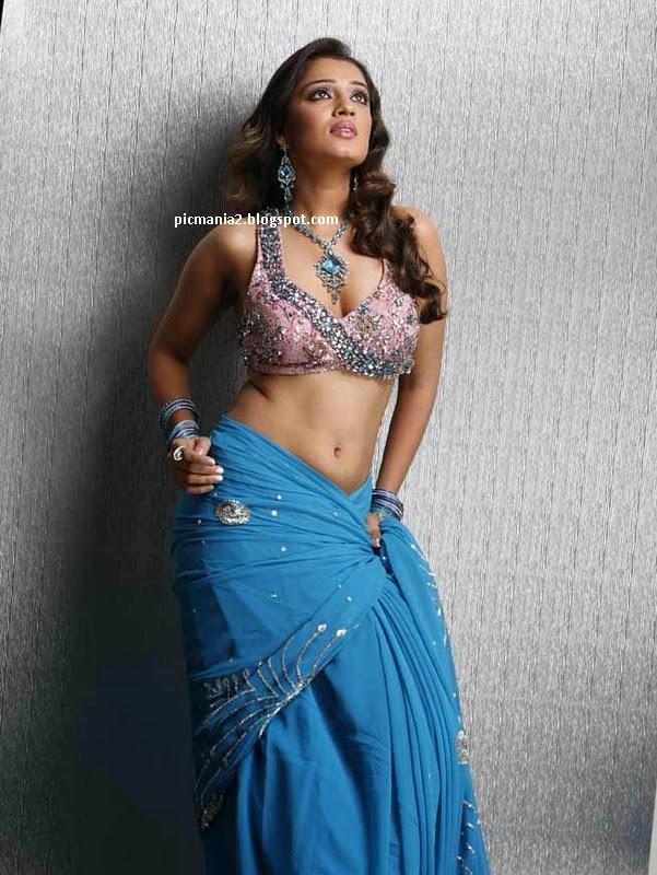 tollywood-actress-nikitha-hot-saree-blouse-photos-gallery