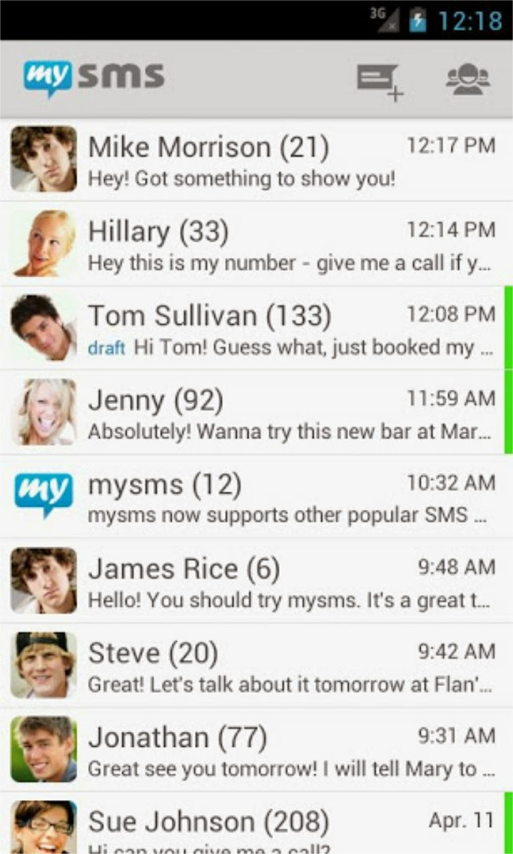 mysms - SMS anywhere ارسال اس ام اس اندرويد ايفون كمبيوتر
