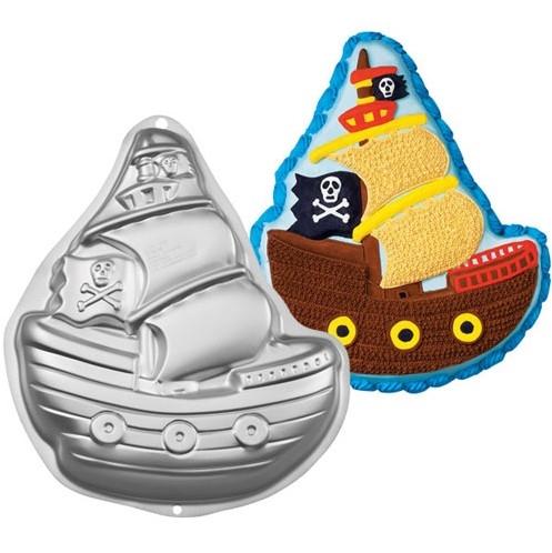 forma de bolo 3d barco pirata navio