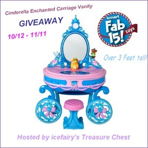 Cinderella Enchanted Carriage Vanity, Kmart, Giveaway, Christmas Toys