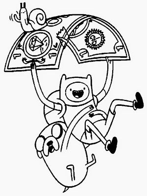 Finn And Jake Adventure Time Coloring Pages - Colorings.net