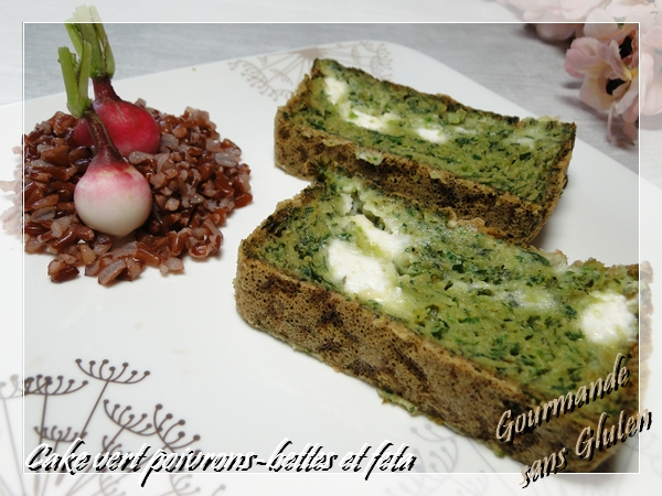 Cake vert poivrons bettes et feta
