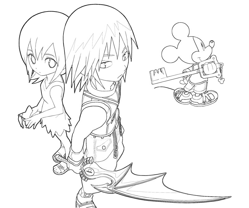Kingdom Hearts Riku Pages Coloring Pages