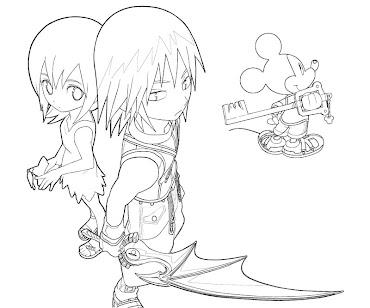 #8 Riku Coloring Page