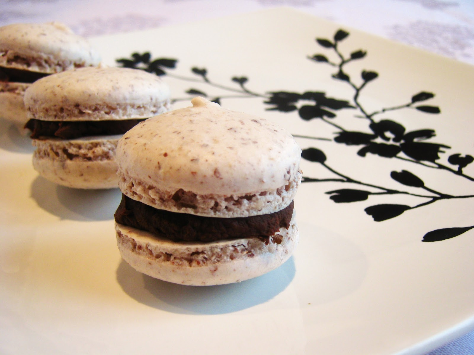 ... Mistaking: Raspberry Almond French Macaroons with Chocolate Ganache