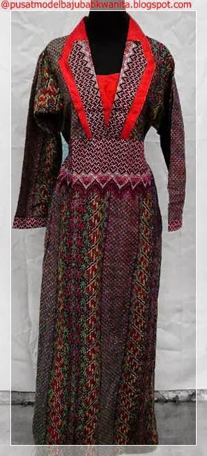 Model Baju Batik Wanita Terbaru 2013 2014 Gambar Model