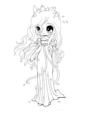 chibi pretty mermaid coloring pages - photo#14