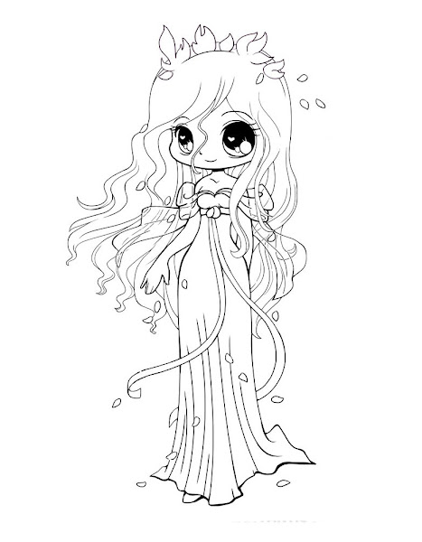 Cute Chibi Princess Coloring Pages Coloring Download Coloring Pages Of Anime Princesses Free Coloring Sheets