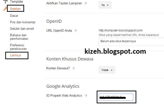 Cara mudah mendapatkan tracking id Google Analytics