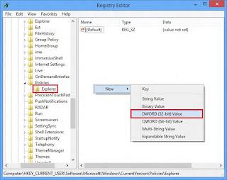 Cara Sembunyikan Partisi Drive di Windows 8