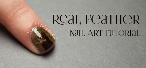 Real Feather Nail Art Tutorial
