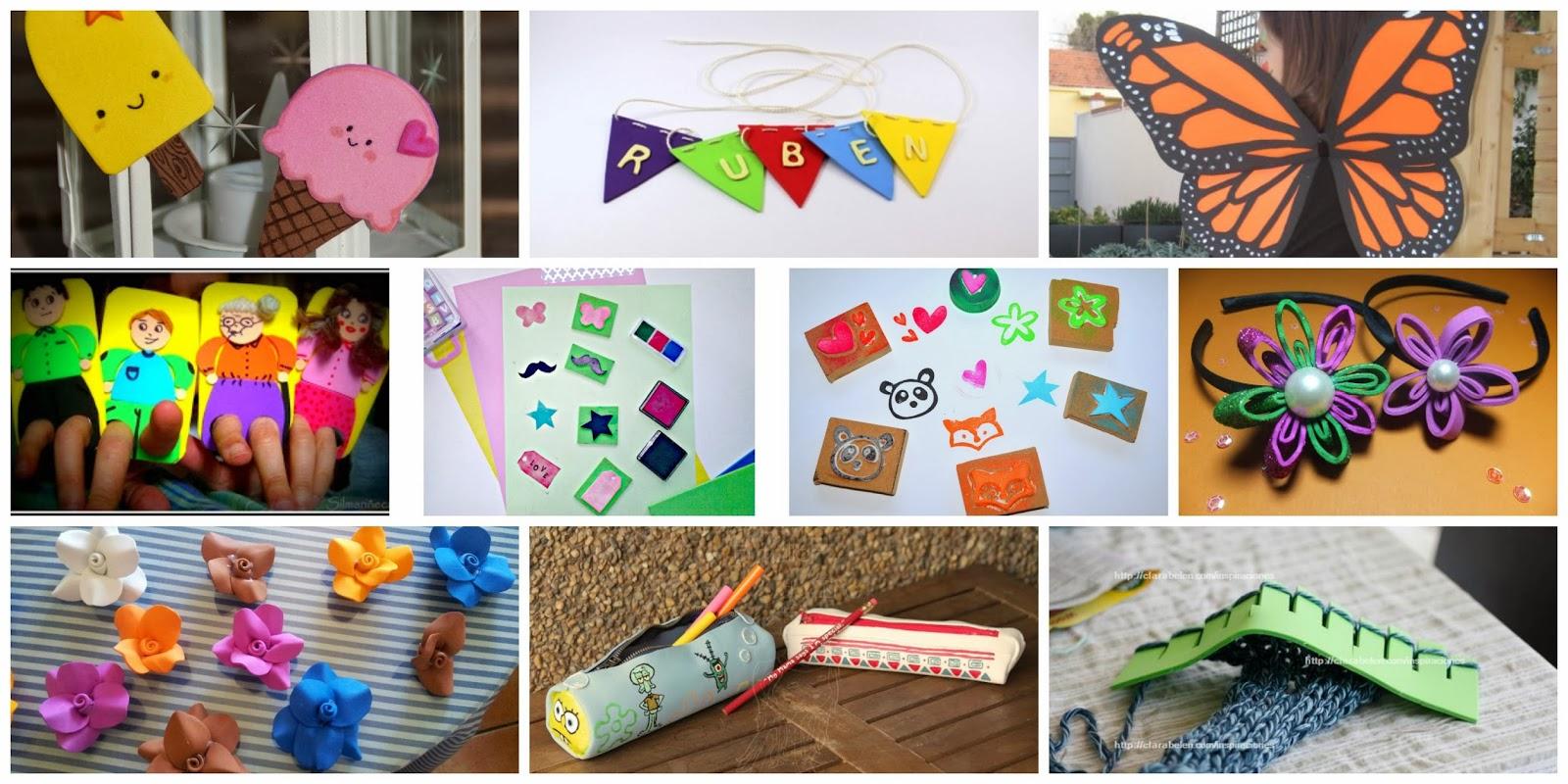 Inspiraciones: manualidades y reciclaje | Recopilación de manualidades de goma  eva o foami - Inspiraciones: manualidades y reciclaje
