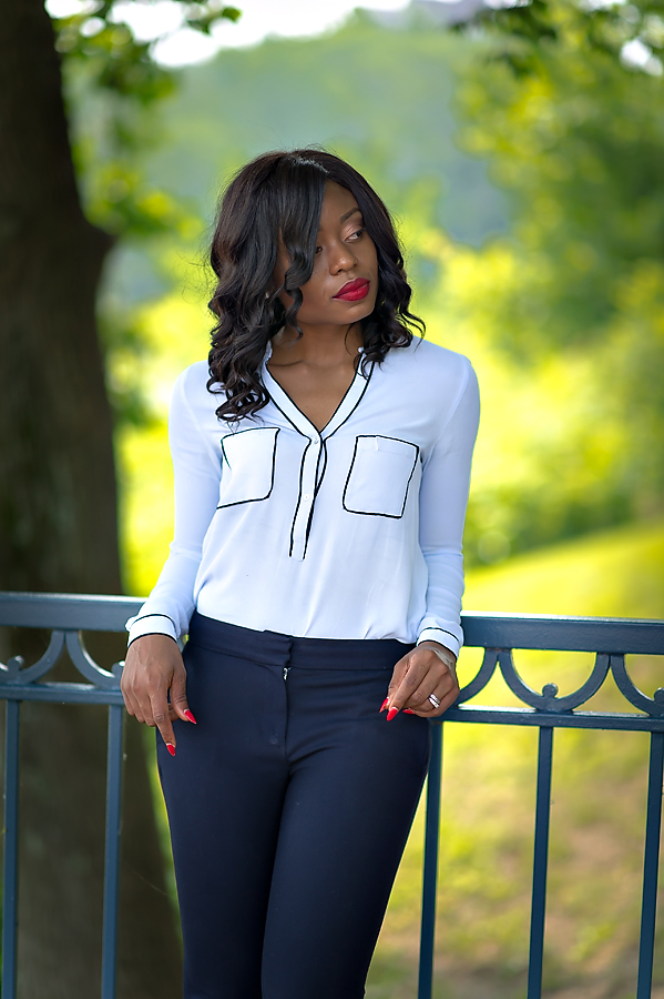 Work style in Zara blouse