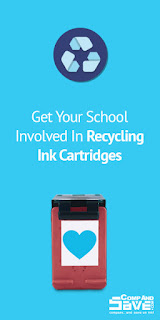 recycle ink and toner cartridges at school