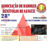 PORTALEGRE: ASSOCIAÇÃO DE DADORES DE SANGUE COMEMORA 28º ANIVERSÁRIO