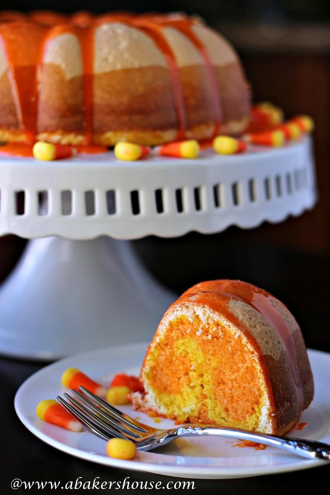 Candy Corn Bundt Cake For Bundtamonth October A Baker 39 S