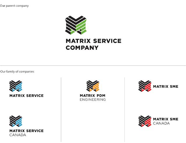the branding source  new logo  matrix service