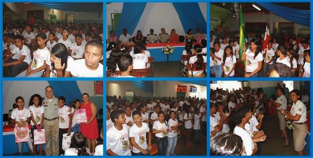 PROERD FORMA MAIS 184 CRIANÇAS EM ANDORINHA