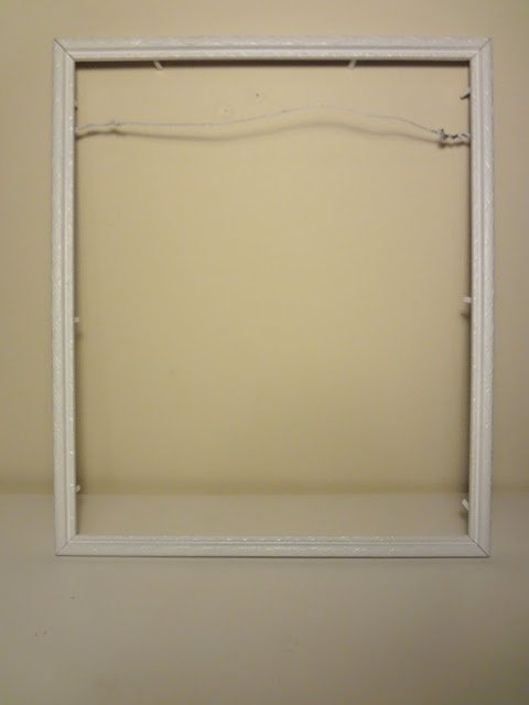 picture frame with wire backing