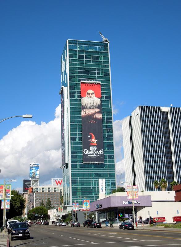 Santa Rise of Guardians billboard