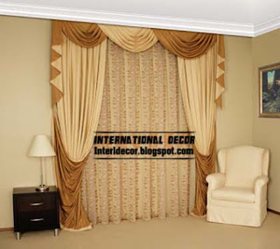 Luxury Drapes Curtain Design 2015 For Living Room Interior