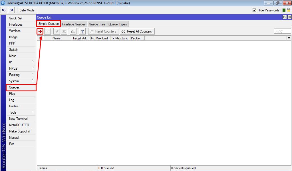 Bandwidth Simple Queue Mikrotik | Jaringan & OS