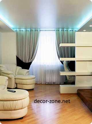 stretch ceiling lighting, ceiling designs for living room