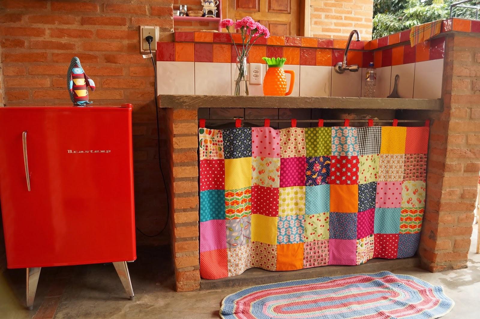 Como Fazer Cortinas Para Cozinha Cozinha Com Cortina Em Croch