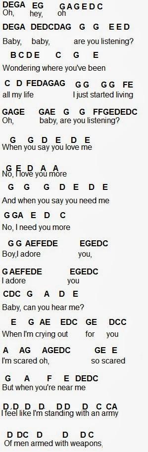 Flute Sheet Music: Adore You