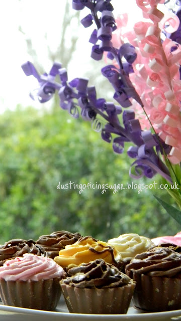 DIY paper lavenders - dustingoficingsugar.blogspot.co.uk
