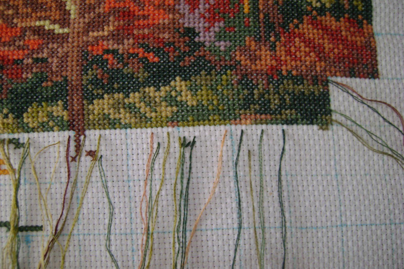 Вышивка методом по цветам
