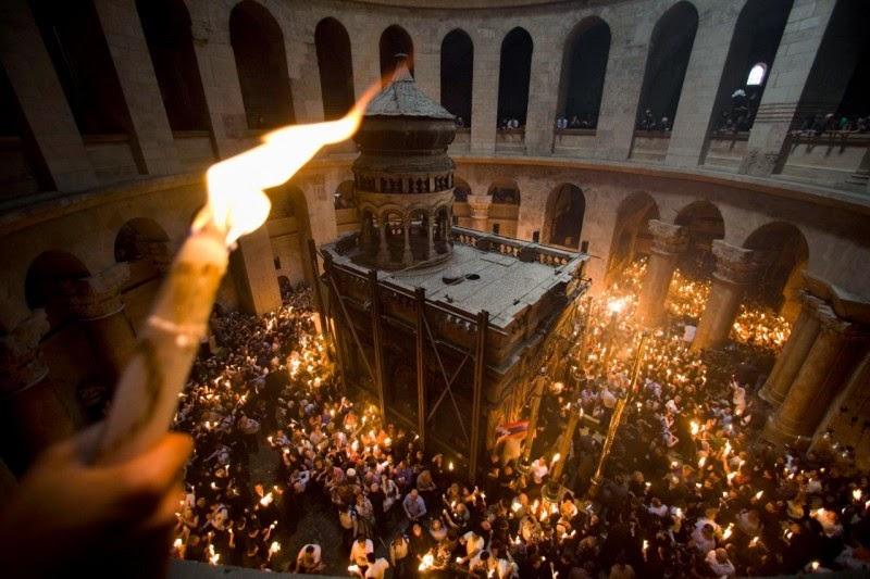 Santo fuoco di Gerusalemme è in Ucraina
