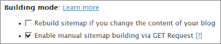 XML Sitemaps – Change the Building Mode