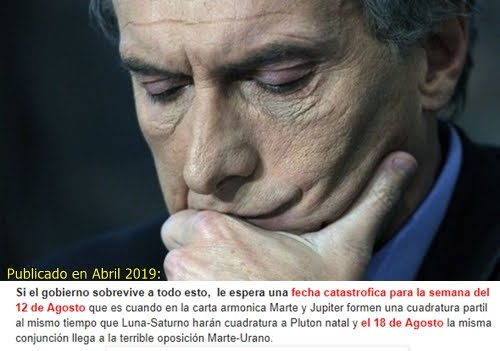 """""""LA CATASTROFE ASTROLOGICA ARGENTINA PARA MITAD 2019"""""""