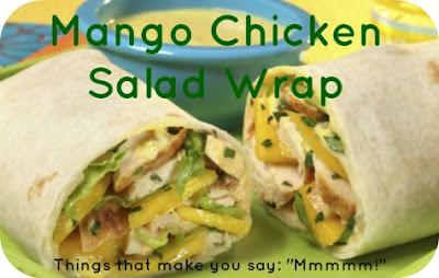 mango chicken salad wraps
