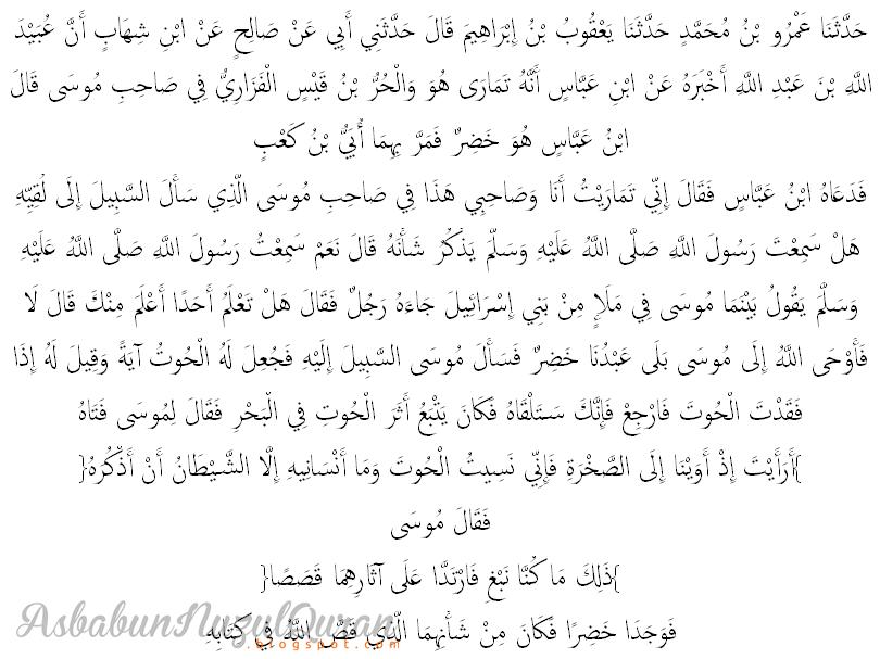 Qur'an Surat al Kahfi ayat 63