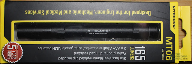 Nitecore 2xAAA Flashlight / Penlight - Front of Box