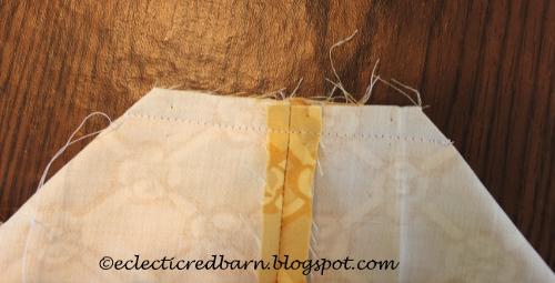Stitched bottom seam