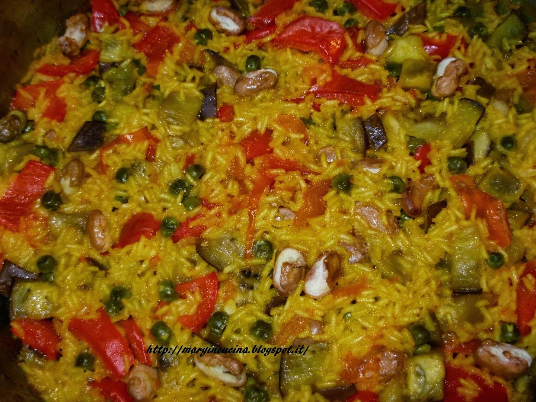 mary in cucina paella vegetariana
