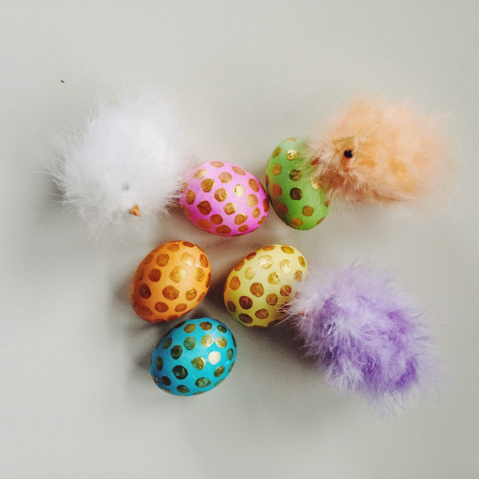 Easter, DIY, Polka Dots, Easter Eggs
