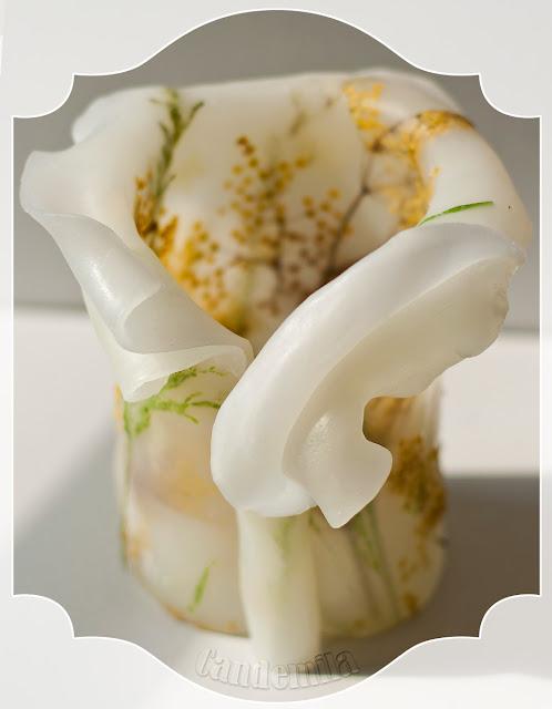 Lampion parafinowy z kwiatem czarnego bzu