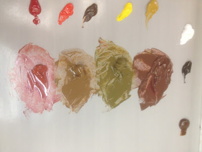 Four Flesh Tones Mixed