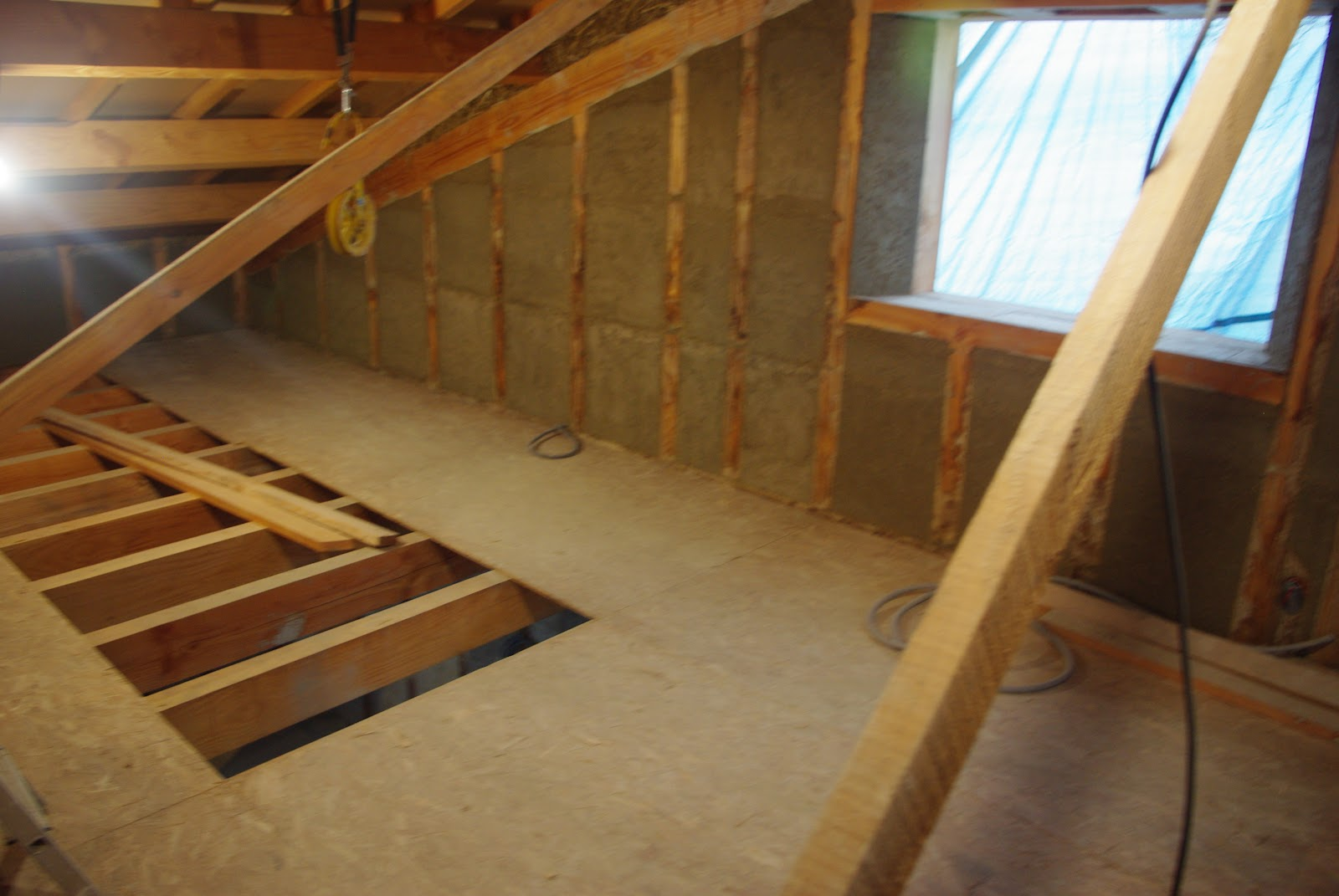 Notre maison ossature bois isolation paille  Mortier Suite et fin # Ossature Bois Isolation