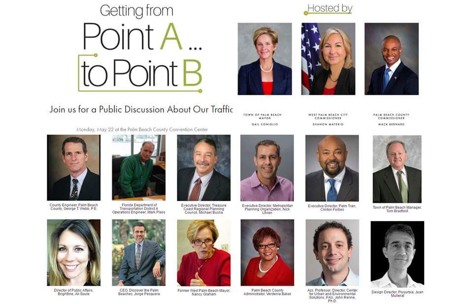"""Point A → Point B"". Click on image below:"