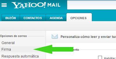 firma yahoo mail