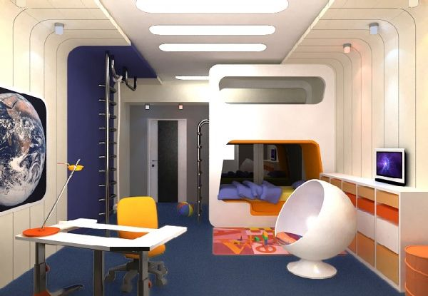 Dreams and wishes outer space kid 39 s room ideas for Outer space bedroom design