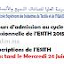 Concours d'admission au cycle licence Professionnelle de l'ESITH 2015
