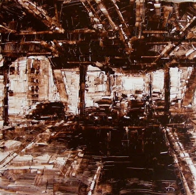 Cityscape painting Chicago Vehicular Traffic