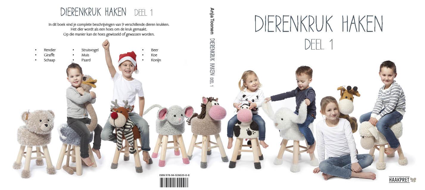 Mijn 15e boek: Dieren kruk haken deel 1